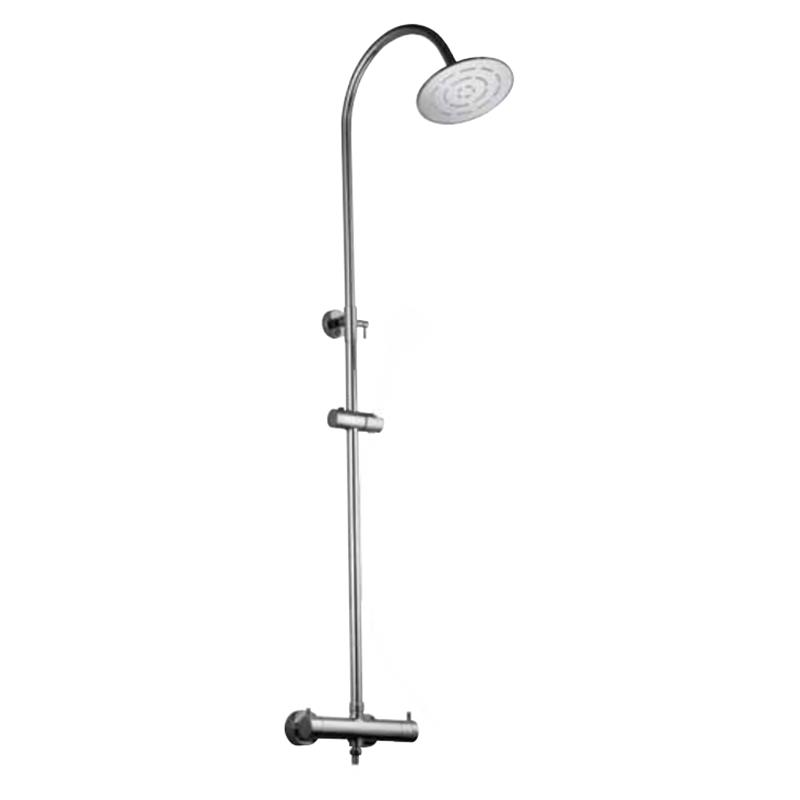 Florentine Thermostatic Shower Mixer with Integrated Divertor and Rigid Riser with Shower Head & Shower Handset (1213, 1613, 1653 & 571)