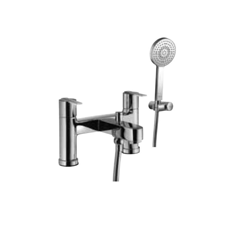 Fonte 2 Hole H Type Bath and Shower Mixer with Shower Kit (1717, 571 & 555)