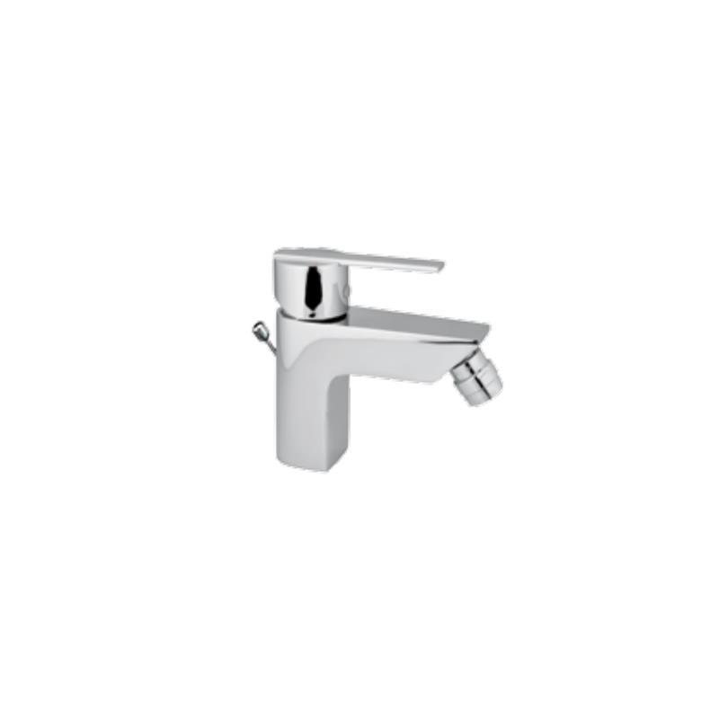 Fonte Single Lever Bidet Mixer with Popup Waste & 375mm Long Braided Hoses, HP 1.0