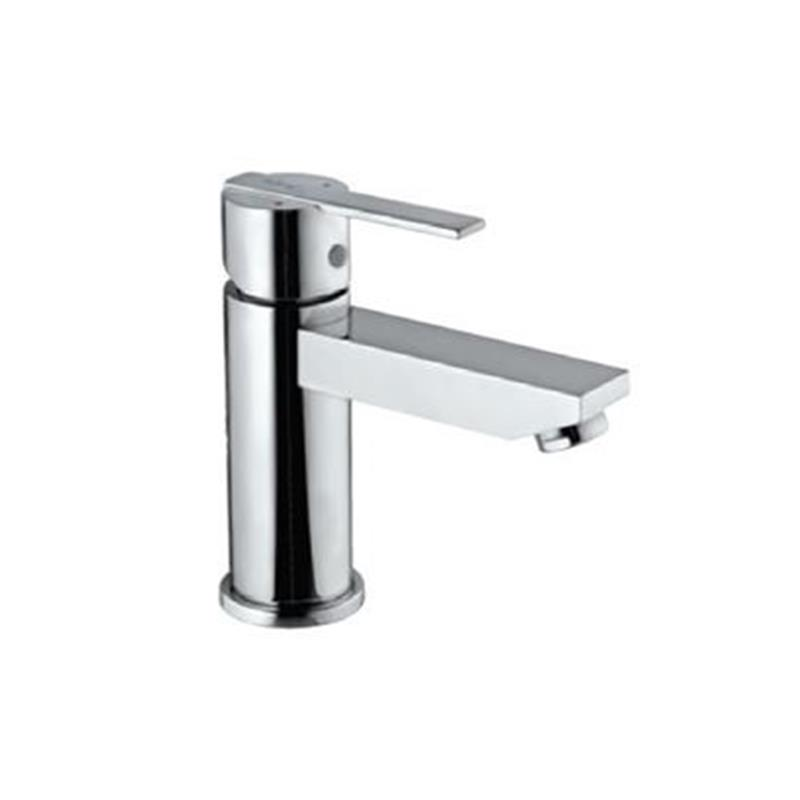 Fonte Single Lever Extended Basin Mixer (Height-95mm) without Popup Waste & 375mm Long Braided Hoses, HP 1.0