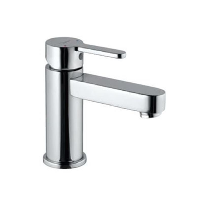 Fusion Single Lever Extended Basin Mixer (Height-95mm) without Popup Waste & 375mm Long Braided Hoses, HP 1.0
