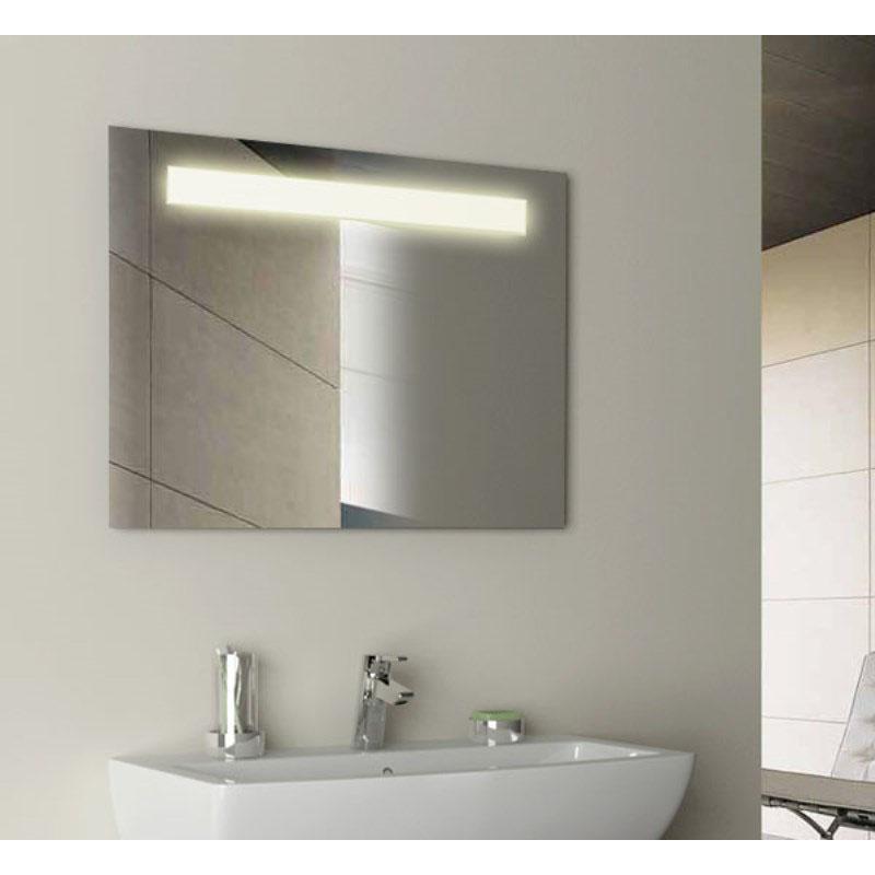 Gem 600mm Rectangular Illuminated Bathroom Mirror