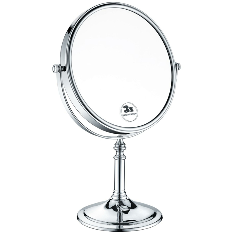 Heritage Free Standing 8 inch Mirror Chrome