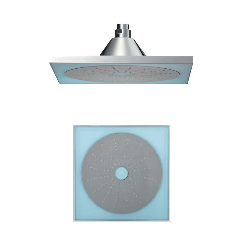 LED  Single Function 250X250mm Square Shape Overhead Shower, HP 1.0