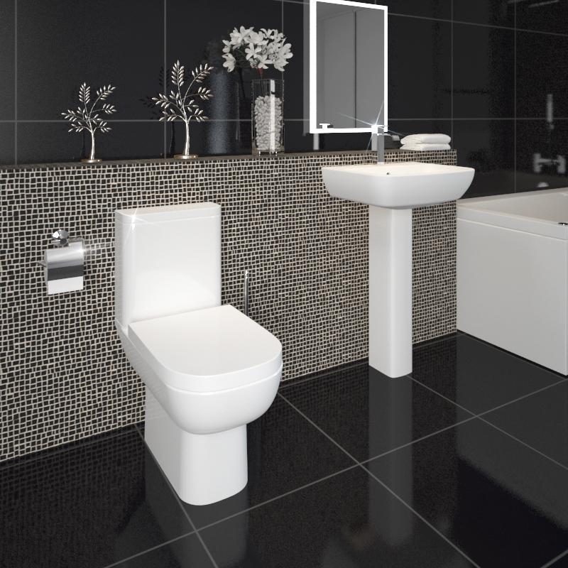 Laguna 4 Piece Bathroom Suite with Soft Close Seat