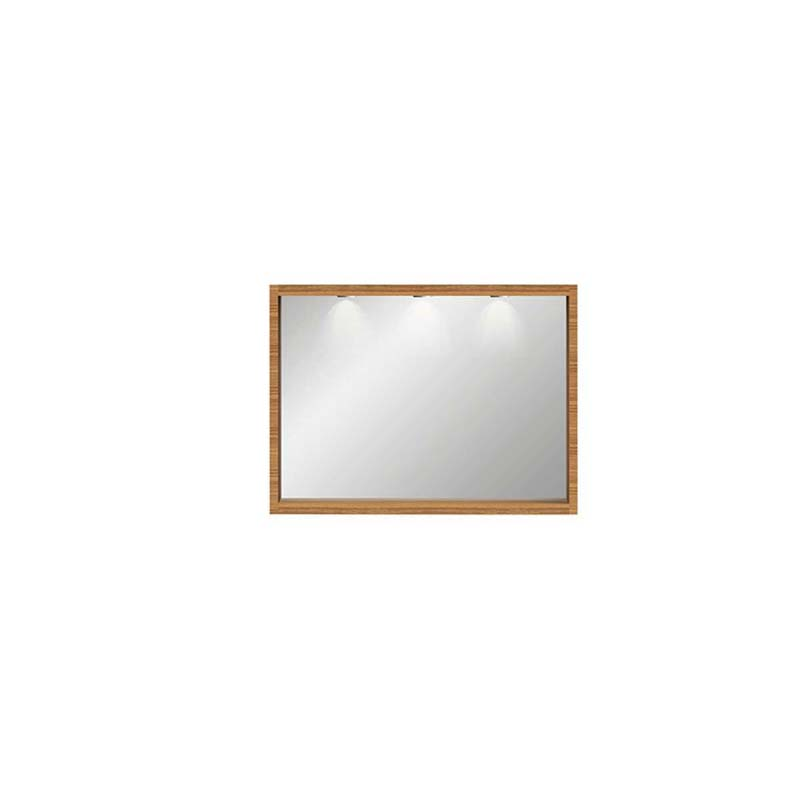 Large Box Mirror with Demister & Lights h665mm x w1165mm x d90mm Rosedale White