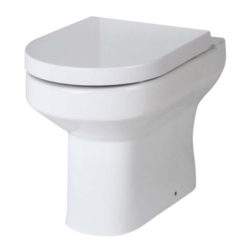 Lawton White D Shape back to wall ceramic toilet
