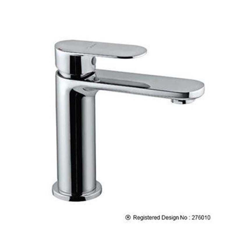 Lyric Single Lever Basin Mixer without Popup Waste, with 375mm Long Braided Hoses