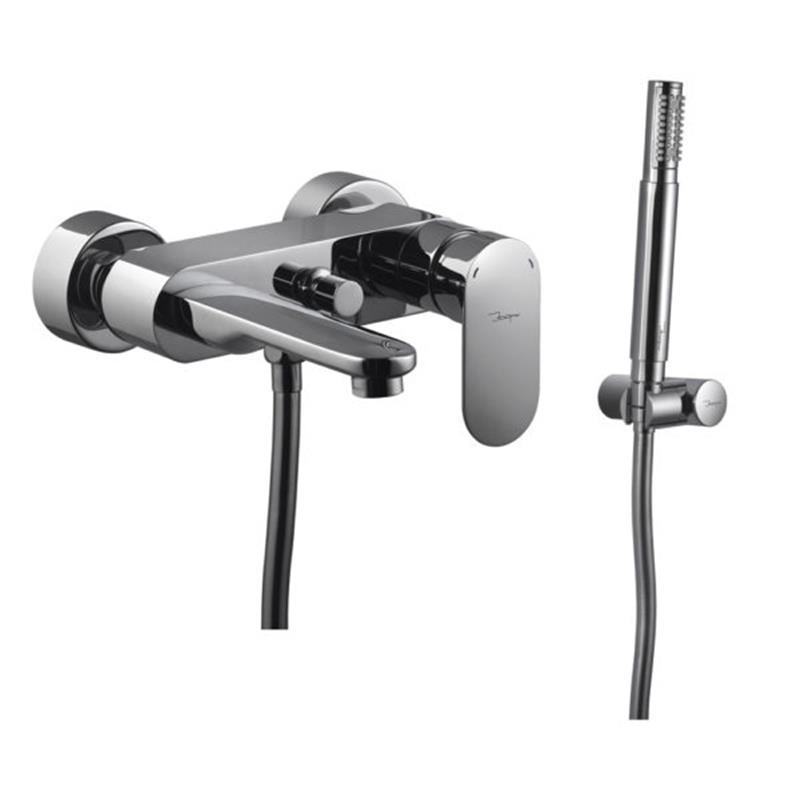 Lyric Wall Mounted Bath & Shower Mixer with Shower Kit (5537N, 571 & 555)
