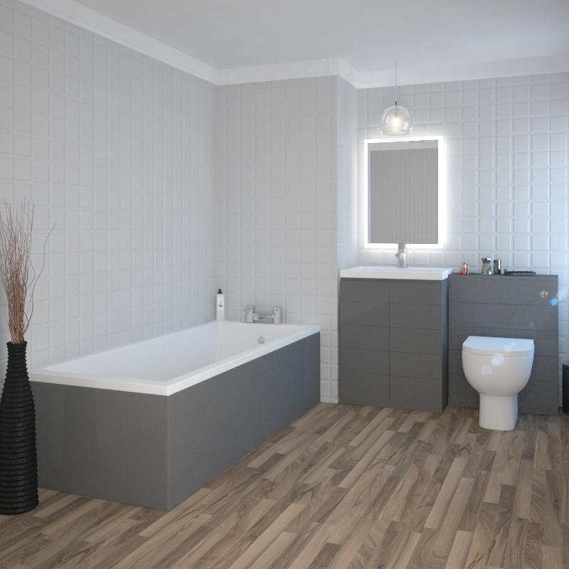 Mercury Grey Bathroom Suite Buy Online At Bathroom City