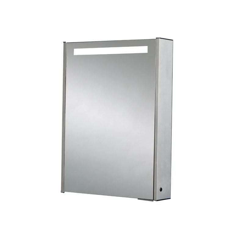 MERCURY Single Door Mirrored Cabinet H70 x W52 x D15