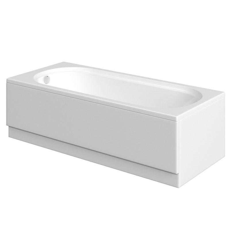 Miranda White Single End 8mm Bath 1700x700