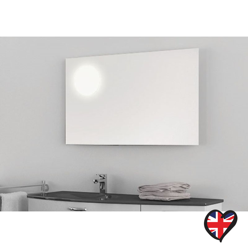 Moon Rectangular Illuminated Bathroom Mirror