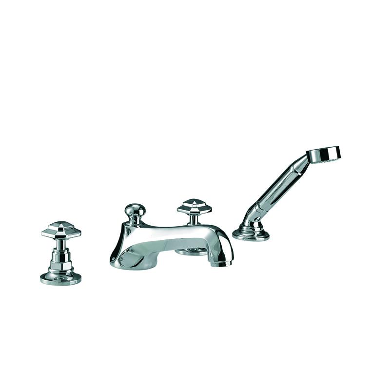 Niveau 4 Hole Bath Filler and Handset Kit Chrome