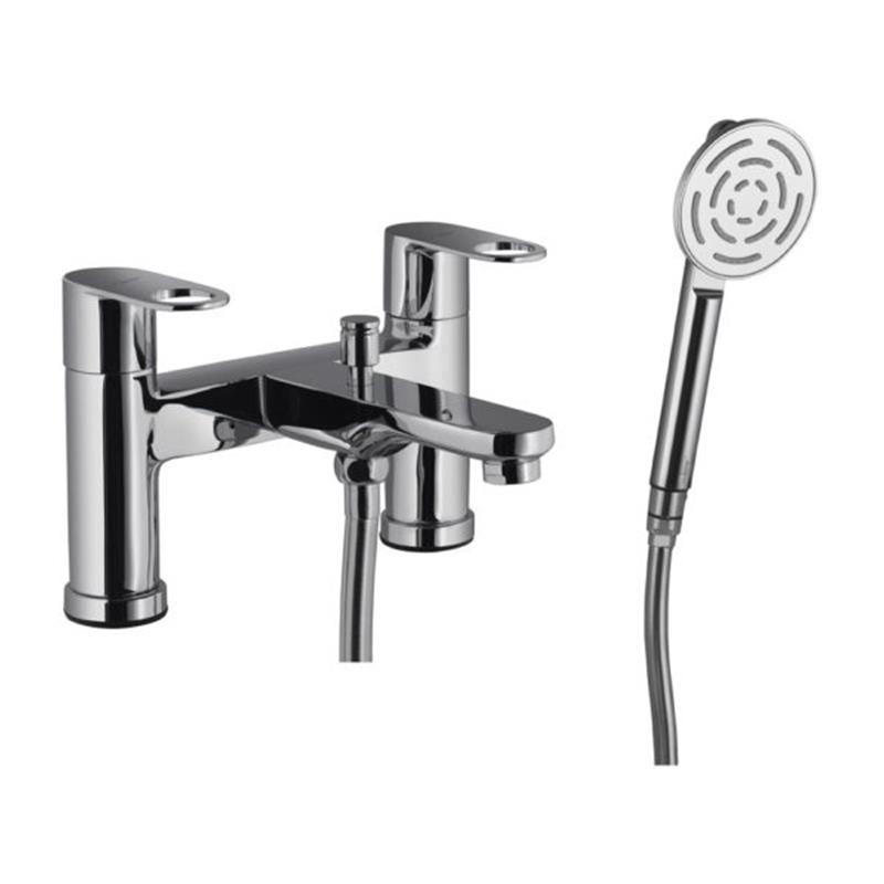 Opnamix Prime 2 Hole H Type Bath and Shower Mixer with Shower Kit (1653, 571 & 555)