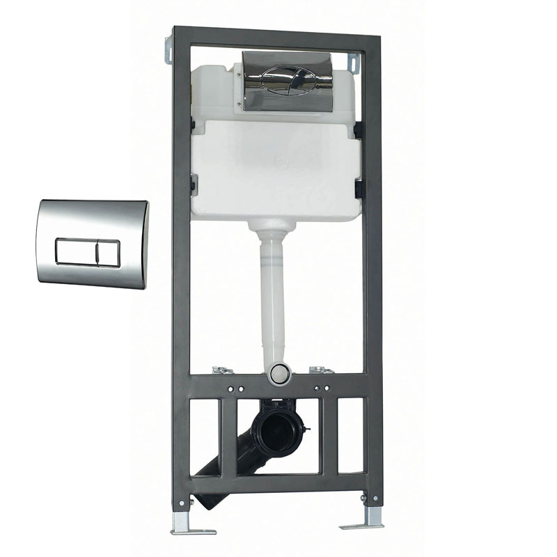 PHOENIX 110 WALL HUNG FRAME and CISTERN SQUARE PUSH PLATE