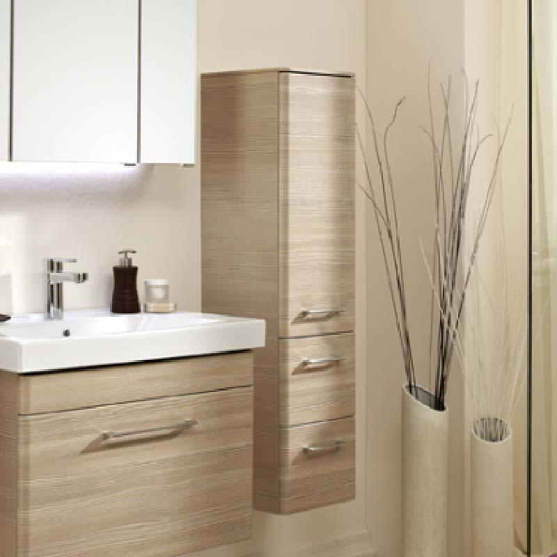Pineo Wall Hung Side cabinet LH 1212x300x330 PG1