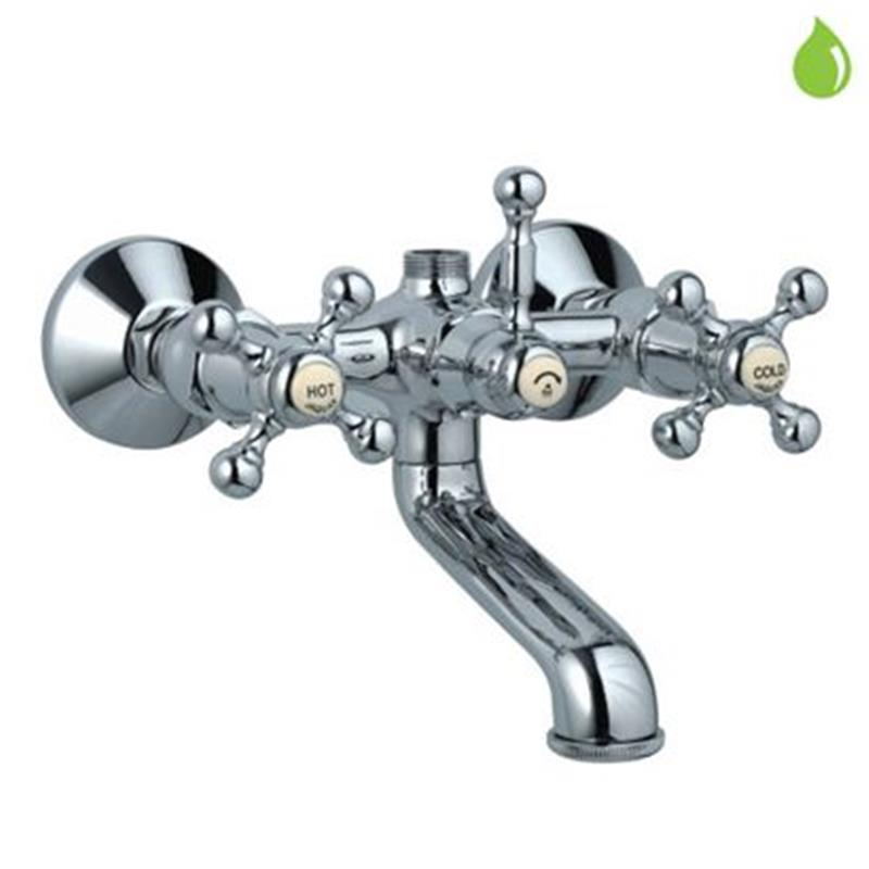 Queens Bath & Shower Mixer with Provision for Connection to Exposed Shower Pipe (SHA-1211), Wall Mounted, LP 0.3