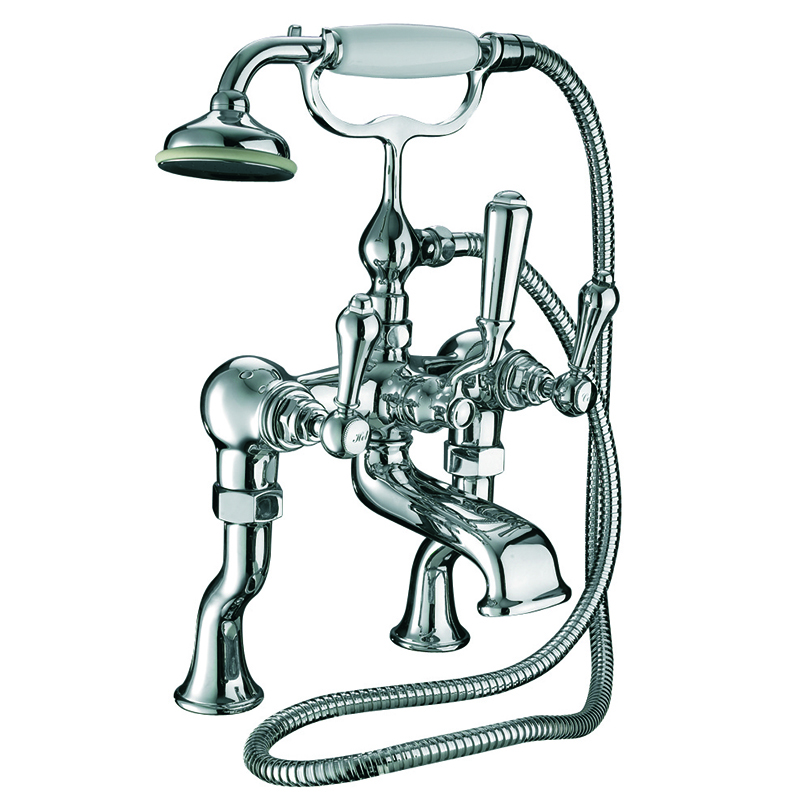 Regent Bath Shower Mixer Wall Mounted, Complete with Shower Kit Chrome