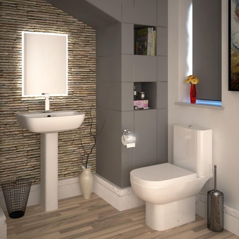 Rak Series 600 4 Piece Bathroom Suite with Soft Close Seat