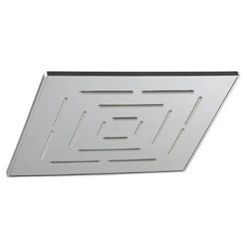 Single Function 200X200mm Square Shape Maze Overhead Shower, Stainless Steel, MP 0.5