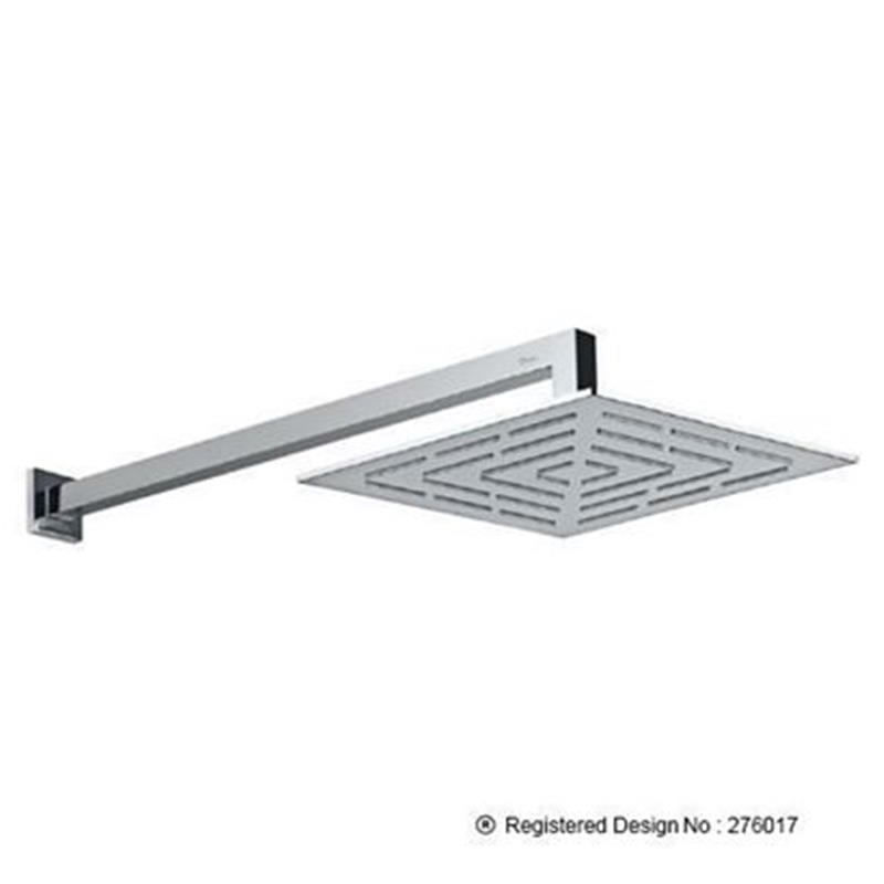 Single Function 300X300mm Maze Square Shape Overhead Shower, Stainless Steel, MP 0.5