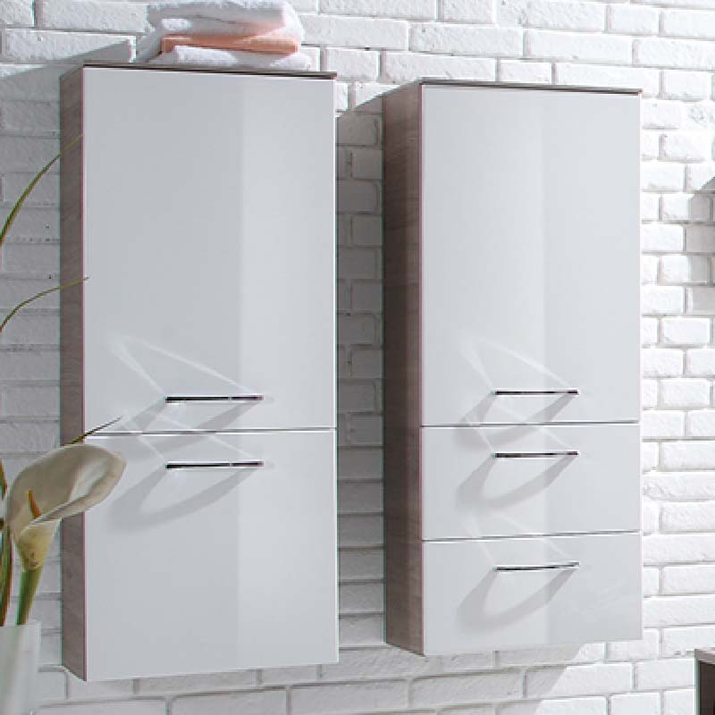 Solitaire 7025 Wall Hung Side cabinet LH 1210x300x330 PG1
