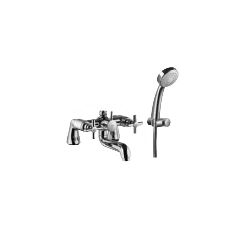 Solo 2 Hole Bath and Shower Mixer with Shower Kit (1929 & 571)