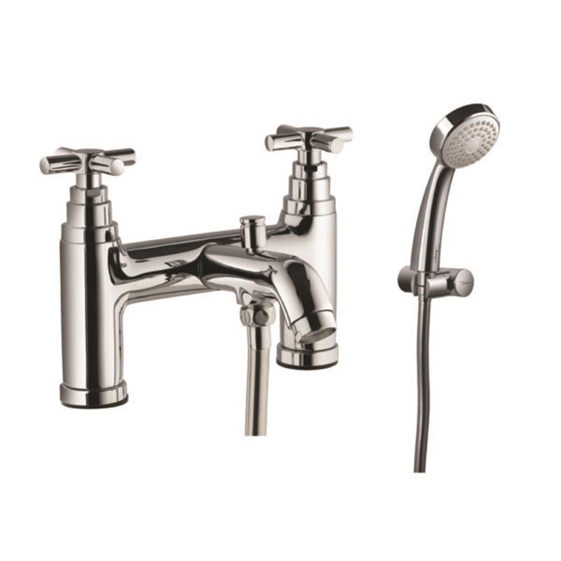 Solo 2 Hole H Type Bath and Shower Mixer with Shower Kit (1929, 571 & 555)
