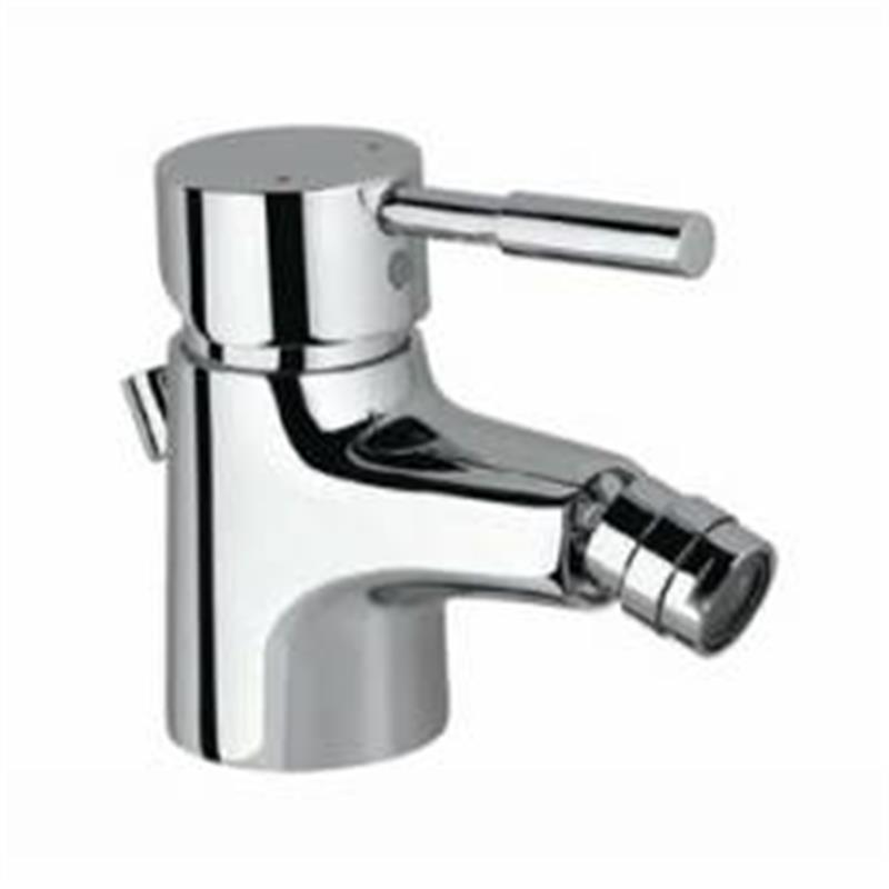 Solo Single Lever Bidet Mixer with Popup Waste & 375mm Long Braided Hoses, HP 1.0