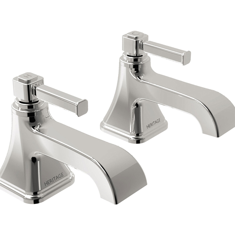 Somersby Basin Pillar Taps Chrome