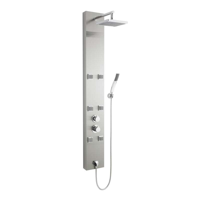 Stainless Steel Easton Thermostatic Shower Panel