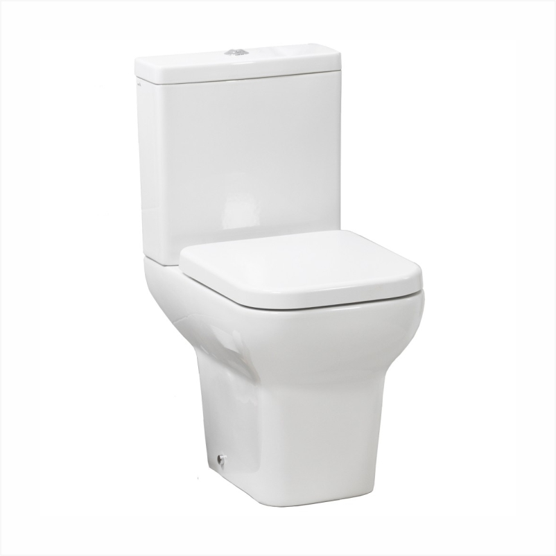 Suburb Open Back Close coupled WC bowl with Cistern and Soft Close Seat