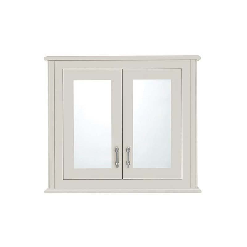 Thurlestone 2 Door Wall Cabinet with Mirrors White