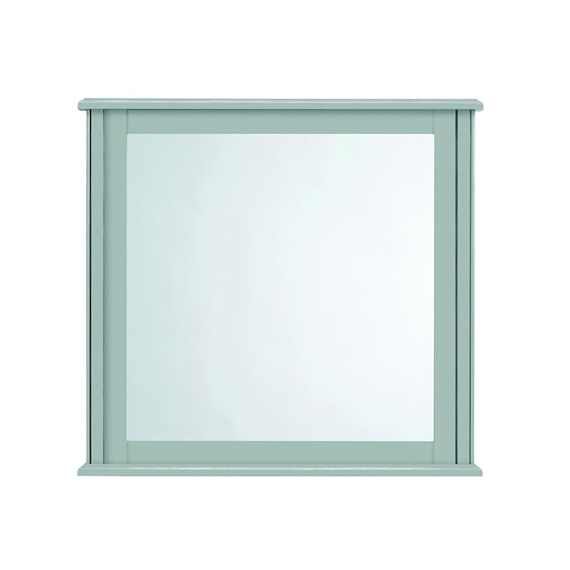 Thurlestone Small Mirror Grey Ecru including Istia Mirror Brackets Chrome