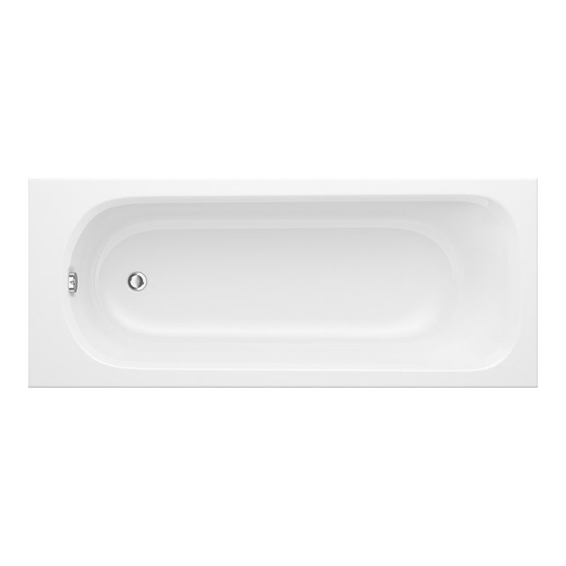 Derwent ECO 2TH 1700mm x 700mm Plain Bath White 5mm