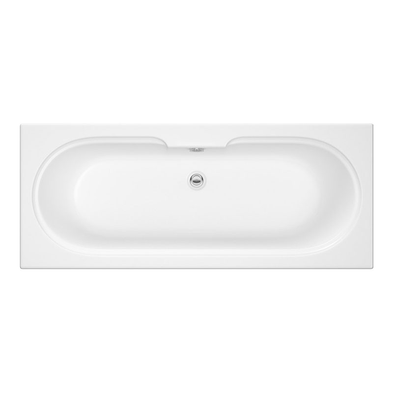 T-CAST Miranda 1700x700 D Ended White ENCAP Base Board