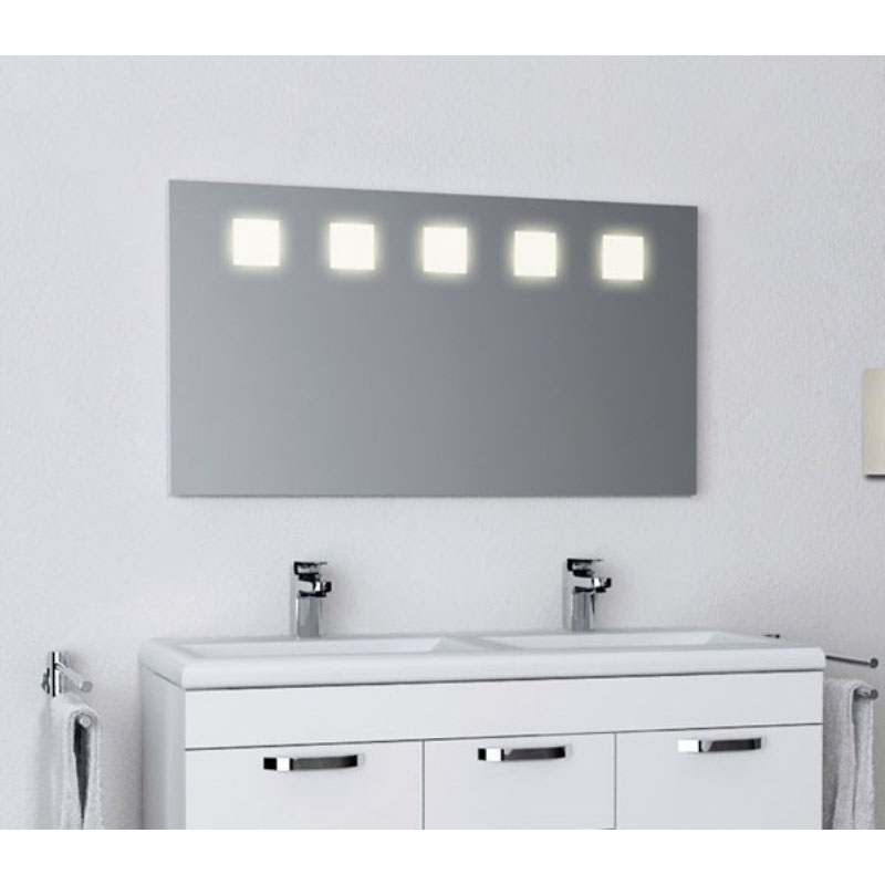 Typhoon Rectangular 1000 Illuminated Bathroom Mirror