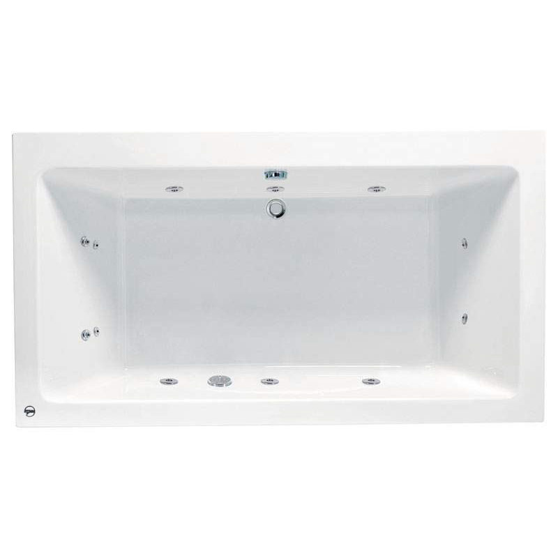 Vernwy 1800x1100mm Kingsize Double Ended Bath with 8 Jets Whirlpool System