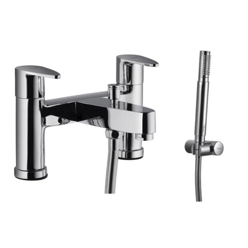 Vignette Prime 2 Hole H Type Bath and Shower Mixer with Shower Kit (5537N, 571 & 555)