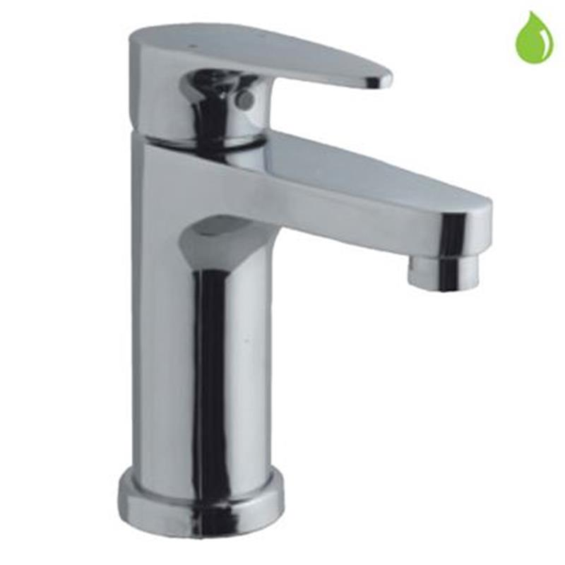 Vignette Prime Single Lever Basin Mixer without Popup Waste, with 375mm Long Braided Hoses, HP 1.0