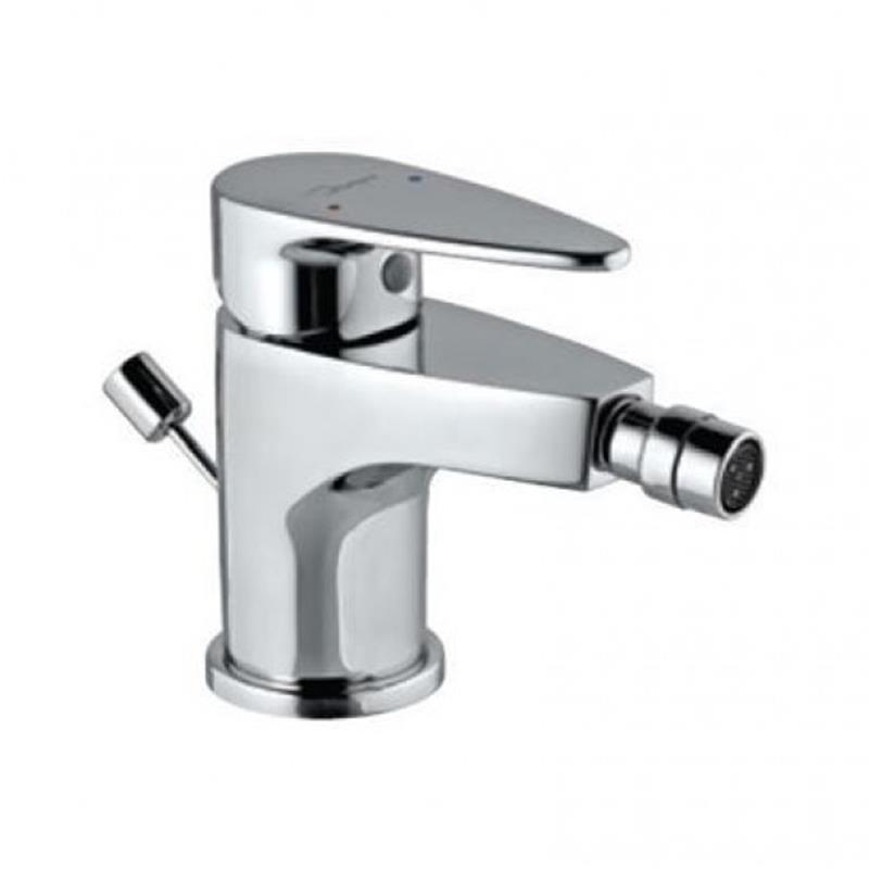 Vignette Prime Single Lever Bidet Mixer with Popup Waste & 375mm Long Braided Hoses, HP 1.0