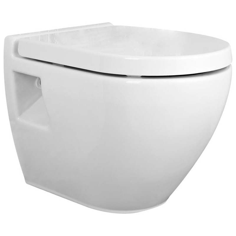 White Marlow Wall Hung toilet and soft close seat