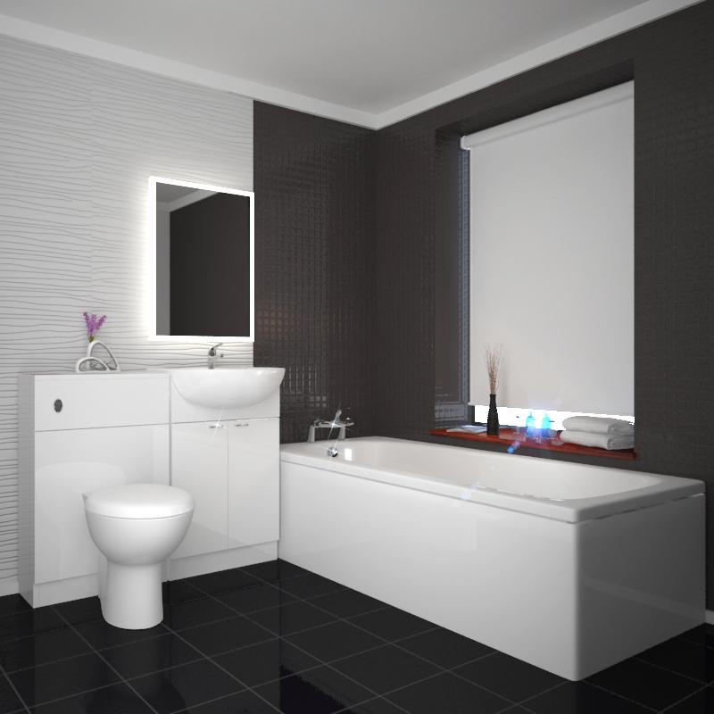 Yubo 1000 Combination Vanity Basin Toilet unit 1700 Bath Suite