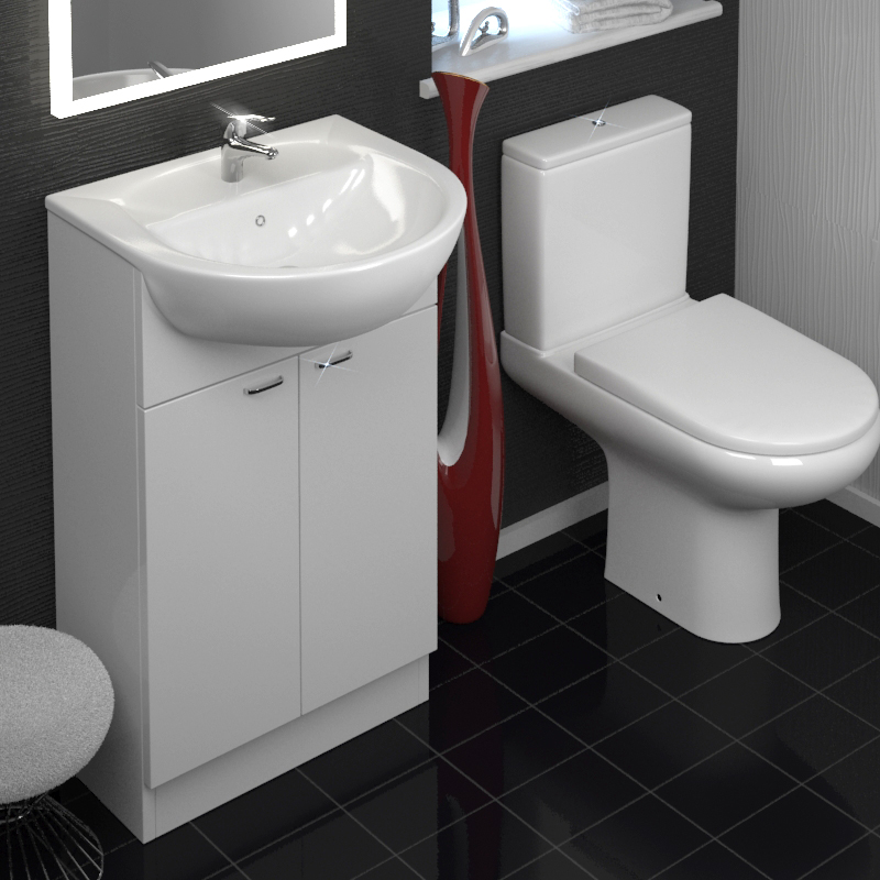 Yubo Compact Cloakroom Suite