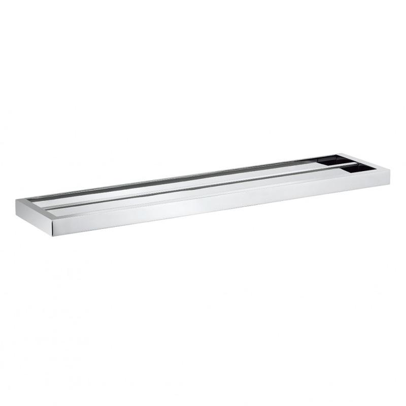 Zest Double Towel Rail 60cm Chrome