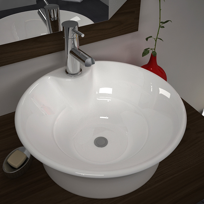 Ario White Worktop Basin