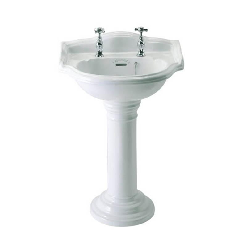 BALMORAL Medium 58.5cm Round Basin & Pedestal 2 T/H