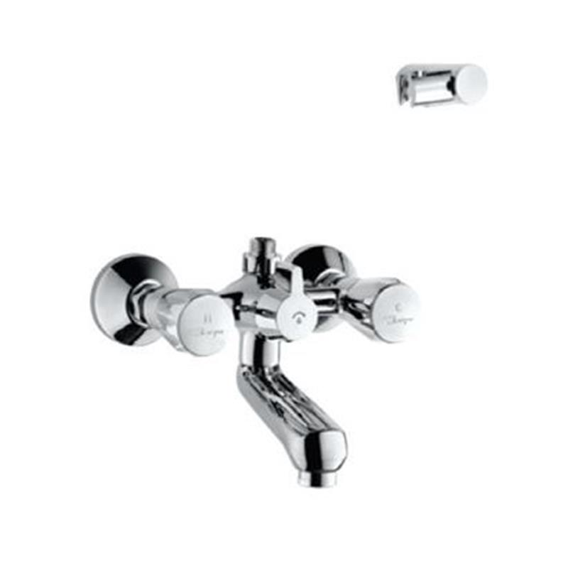 continental Bath & Shower Mixer with Connector for Hand Shower & Wall Bracket, Wall Mounted, LP 0.3
