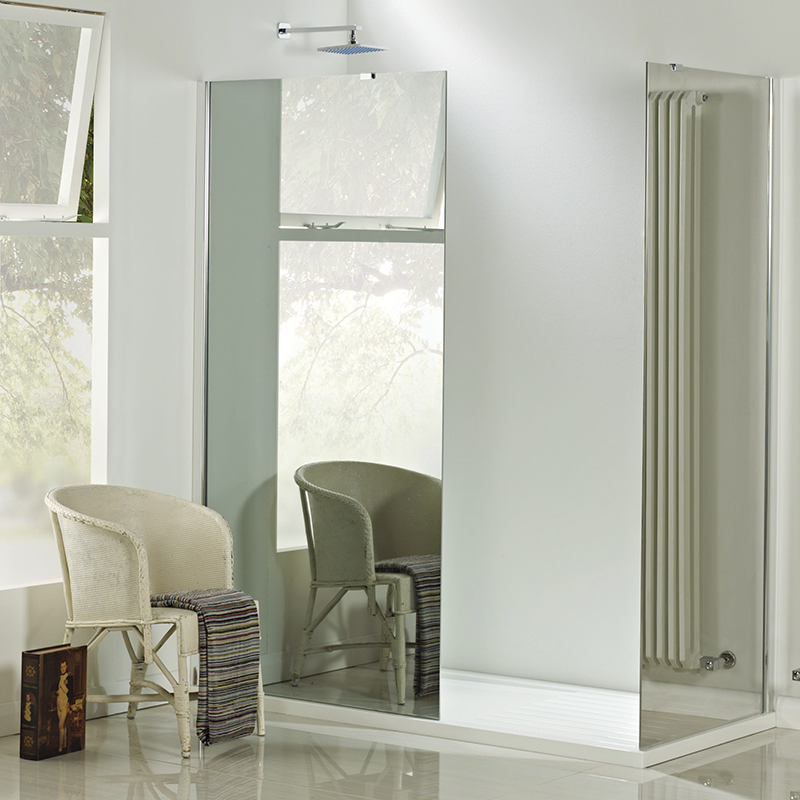 ECHO Mirrored shower wall 800 x 800 inc tray